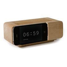 Too cute.  iphone alarm clock!