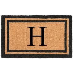 Nance Industries YourOwn Monogrammed Welcome Door Mat Letter: H
