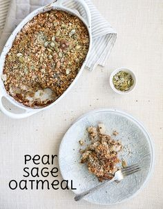 pear + sage oatmeal | what's cooking good looking