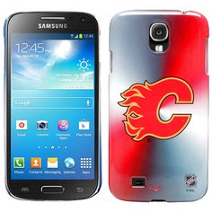 Calgary Flames Puck in Net Samsung Galaxy S4 Case - Gray/Red - $16.14