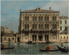 Giovanni Antonio Canal, il Canaletto (Venice 1697-1768), Palazzo Vendramin-Calergi, on the Grand Canal, Venice