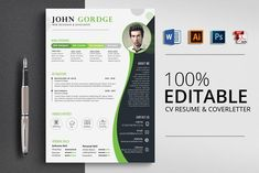 Resume Design Template, Creative Resume Templates, Cv Template, Psd Templates, Engineering Resume Templates, Invitation Templates, Print Templates, Design Templates, Resume Tips