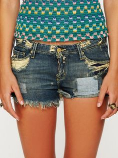#DIY destroyed and tea dyed denim shorts. Orig price $258.00. Outrageous! Keep Calm & Do It Yourself instead! :)