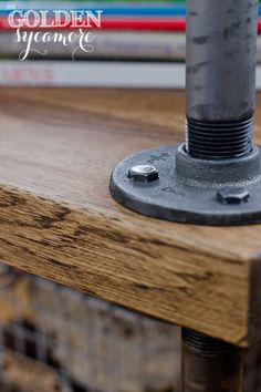 DIY industrial style furniture using piping and an IKEA kitchen worktop (and a blowtorch)..