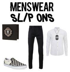 """casual slip ons"" by wwesethrollinslove ❤ liked on Polyvore featuring Vans, Haider Ackermann, Scotch & Soda, Alexander McQueen, David Yurman, men's fashion, menswear and slipons"