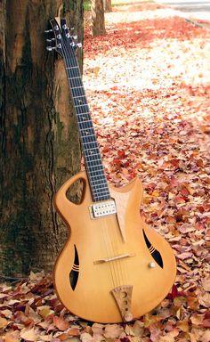 frettedchordophones: frettedchordophones: The autumn leaves with the spitfire archtop jazz guitar Lardys Chordophone of the day - a Year ago ==Lardys Chordophone of the day - 2 years ago --- https://www.pinterest.com/lardyfatboy/
