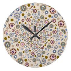Elegant Stars and Circles Pattern Wallclocks Circle Pattern, Circles, Clock, Stars, Elegant, Pretty, Wall, Design, Home Decor