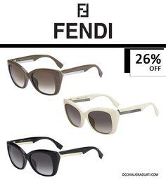 """Occhiali Fendi -26% su OcchialiGraduati.com """"Spediazione Gratuita""""  #fendi #shopping #style #ss2014 #summer #fashion #glassesonline #occhiali #estate #sales"""