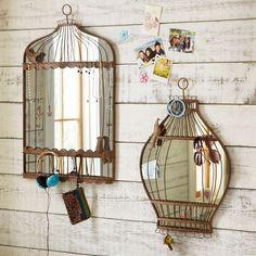 Dê graça aos espelhos com molduras diferentes!  Reciclagem, Jardinagem e Decoração: Uso de Espelhos
