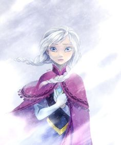 """Frozen by godohelp.deviantart.com on @deviantART - Anna. I have to say: something about how her hair's blowing in the wind makes this picture remind me of young Cosette from """"Les Misearbles"""": http://www.averagefilmreviews.com/wp-content/uploads/2012/09/les-miserables-2012-comparison-poster.jpg"""