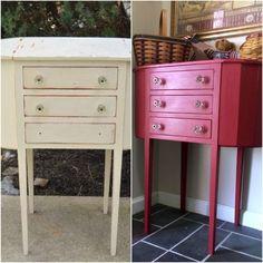 Így alakítsd át a régi bútoraidat egyszerűen | nlc Nightstand, Vanity, Table, Furniture, Home Decor, Dressing Tables, Powder Room, Decoration Home, Room Decor