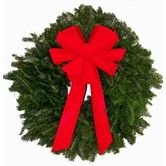 "Found it at Wayfair - Fresh Fraser Fir Wreath - The ""Red Baron"" -  24"" -26"" (diam.)"