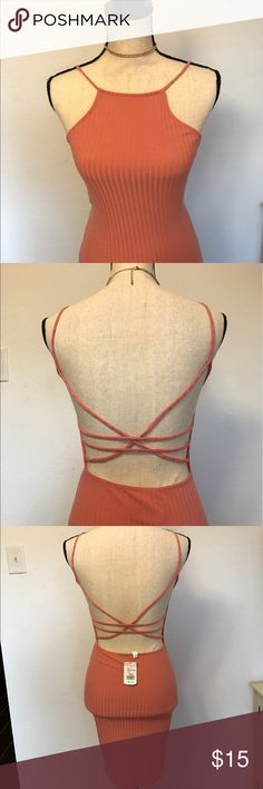 👗FLASH SALE👗Bodycon strappy back mauve dress Fitted backless dress * Never Worn * a'gaci Dresses Mini