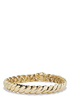 David Yurman 'Hampton Cable' Link Bracelet in Gold available at #Nordstrom