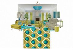 Peacock Living Room Inspired Whats A Good Color For 115 Best Images An Olioboard By Charminglyshab Features Cr Laine S Conrad Chairs In