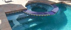 Tiled pool steps