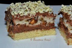Dessert Cake Recipes, No Cook Desserts, Delicious Desserts, Romanian Desserts, Romanian Food, Romanian Recipes, Polish Cake Recipe, Food Cakes, Something Sweet