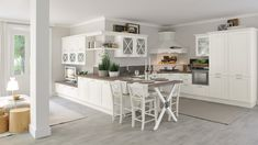 Traditional, transitional and contemporary kitchen cabinets, closet and media furniture 60s Kitchen, Shabby Chic Kitchen, Wooden Kitchen, Kitchen Sets, Open Plan Kitchen, Kitchen Decor, Style At Home, Contemporary Kitchen Cabinets, Cuisines Design