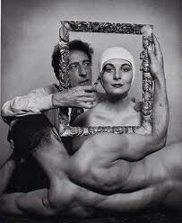 Jean Cocteau, with ballerina Ricki Soma (Anjelica Huston's mother) and dancer Leo Coleman, Photo by Philippe Halsman for LIFE. Man Ray, William Eggleston, Salvador Dali, Clint Eastwood, Philippe Halsman, Anjelica Huston, Jean Cocteau, Martin Parr, Cinema