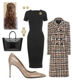"""""""Work"""" by cgraham1 on Polyvore featuring Iris & Ink, Dolce&Gabbana, Accessorize, Bloomingdale's, Victoria Beckham and Michael Kors"""