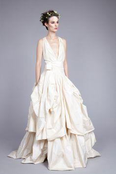 Best in Bridal: Spring 2015 Vivienne Westwood 2015 Wedding Dress Trends  http://www.hawaiianweddings.net #WeddingDresses #Harpersbazaar #SpringFashionWeek