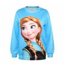 Jersey chica Anna. Frozen: el Reino del Hielo, azul Precioso jersey para todas las fans de la película Frozen.