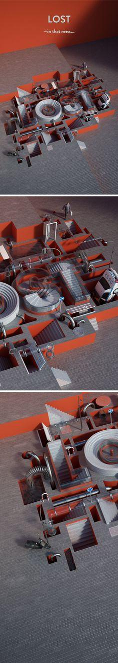 Tipografia 3D, por Benoit Challand