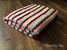 Make this beautiful striped afghan with Lion Brand Vanna's Choice!