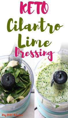 Cilantro Lime Vinaigrette – My PCOS Kitchen This delicious keto cilantro lime dressing goes so well over any low carb salads or fish tacos! So easy and creamy, you'll want to make this simple keto salad dressing every day of the week! Avocado Cilantro Dressing, Lime Salad Dressing, Cilantro Lime Vinaigrette, Salad Dressing Recipes, Mexican Dressing Recipe, Mexican Salad Recipes, Low Carb Dressing, Mexican Salad Dressings, Low Carb Keto