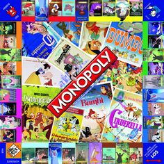 #Monopoly #Disney #classic #Bambi #Cinderella #Aladdin #Wunderlampe #Dschungelbuch
