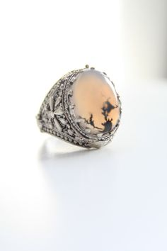 FREE SHIPPING!!!Dendritic agate/ Natural Aqeeq stone yemeni silver ring, tribal,carved ring/ Men ring/Size 8 ring by SusVintage on Etsy https://www.etsy.com/listing/225871747/free-shippingdendritic-agate-natural