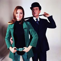 Diana Rigg, Patrick Macnee; publicity still for The Avengers.