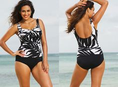 Plus Size Swimwear Phoenix Twist Front Tankini By Shore Club