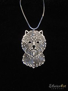 Cairn Terrier  silver dog jewelry  pendant by SiberianArtJewelry, $75.00
