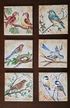Ceramic Tile Crafts, Middle School Art Projects, Bird Quilt, Bird Silhouette, China Painting, Glazes For Pottery, Pottery Studio, Mosaic Patterns, Pottery Painting