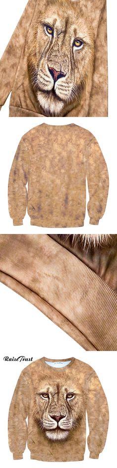 Autumn 2017 Men/Women Fashion 3d Hoodies Printing Lion King Harajuku Pullover o-neck Sweatshirts Spring Hip hop Long sleeves
