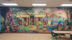Victory Church in Fremont, OH brings you to Hawaii. Even a change to one wall can make a huge difference