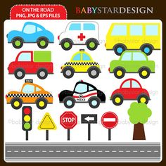 On The Road Clipart INSTANT DOWNLOAD