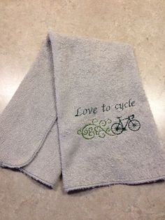 A personal favorite from my Etsy shop https://www.etsy.com/listing/222638119/work-out-towel-cycling-towel-sports