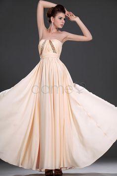 Sanduhr Perlen Chiffon Aermelloses Bodenlanges Zierliches Traegerloses Abendkleid P290208480 $209.99 Abendkleider