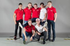 The Powerteam: Juan Manuel Correa Maxi Günther Nick Cassidy Antonio Giovinazzi Ralf Aron – above, from left… Mick Schumacher, Formula One, Indie, Dream Team, F1, Boys, Shape, Cars Motorcycles, Stone