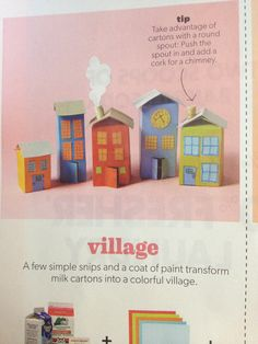 Milk carton village