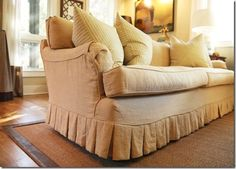 High-Heeled Foot in the Door: English Arm Rolled Sofas