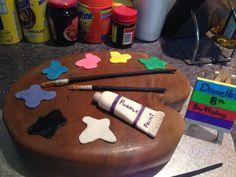 Little Miss Artist 8yo birthday cake