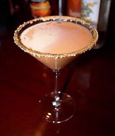 Pumpkin Martini...I haven't tried this but it sounds delish from Real Simple magazine. 1 oz pumpkin liquer, 2 oz vanilla vodka, 1 oz Sylk cream liqueur.