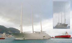 Russian billionaire's mammoth £360m 'Sailing Yacht A' | Daily Mail Online