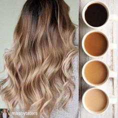 Omg obsessed with this color Balayage Hair Blonde, Brown Blonde Hair, Hair Color For Black Hair, Fall Hair Colors, Hair Dye Colors, Cabelo Rose Gold, Hombre Hair, Baliage Hair, Haircuts For Medium Hair
