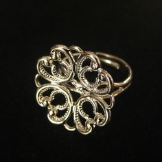 5 20mm filigree ring base silver plated  flower by bunnysundries (Craft Supplies & Tools, Jewelry & Beading Supplies, Findings & Hardware, ring, silver, findings, silver filigree, ring base, ring setting, ring blank, ring finding, adjustable ring, filigree ring, silver filigree ring, filigree, lead and nickel free)