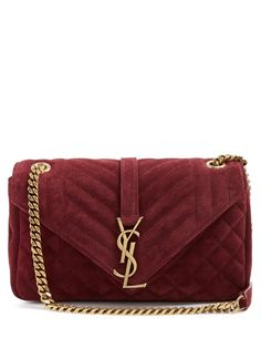 c952c5a84bd2 Saint Laurent Monogram classic quilted suede cross-body bag Quilted Shoulder  Bags