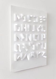 3-D typography Zeitlos in form. Timeless. in shape.